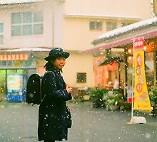Japan school girl by Ann Wang