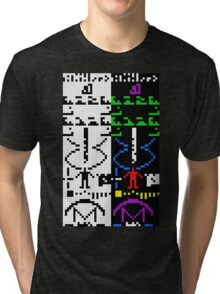 The Arecibo Message 003 Tri-blend T-Shirt