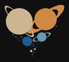 Solar System Heart (to scale) by jezkemp