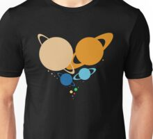 Solar System Heart (to scale) Unisex T-Shirt