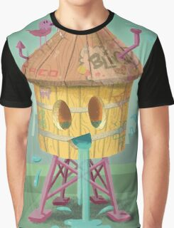 Happy Brooklyn Water Tower Graphic T-Shirt