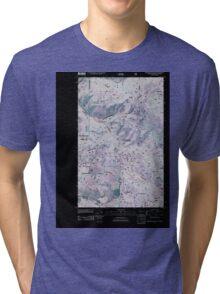 USGS Topo Map Washington State WA Boundary Mountain 20110505 TM Inverted Tri-blend T-Shirt