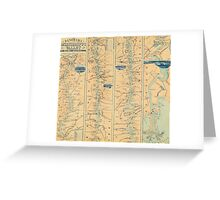 Vintage Map of The Mississippi River (1863) Greeting Card