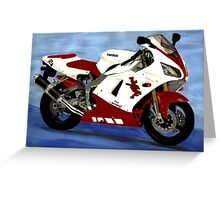 motorbike yamaha YZF R1 painting Greeting Card