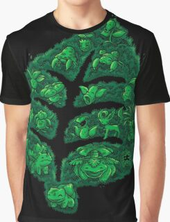 PokeDoodle - Grass Graphic T-Shirt