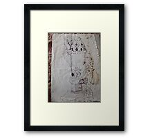 blue dragon's castle Framed Print