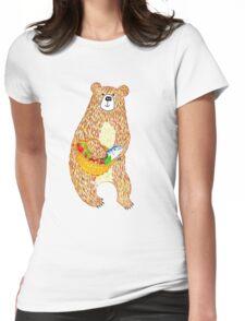 Autumn Bear Womens Fitted T-Shirt