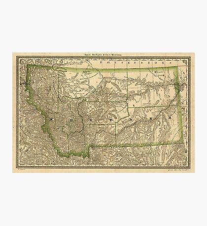 Vintage Map of Montana (1881) Photographic Print