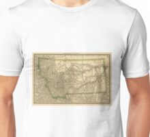 Vintage Map of Montana (1881) Unisex T-Shirt