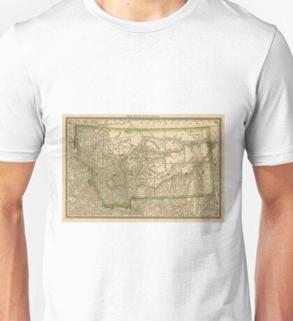 Vintage Map of Montana (1881) Unisex T-Shirt