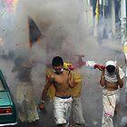 Phuket Town Firecrackers  by Julian Lowry
