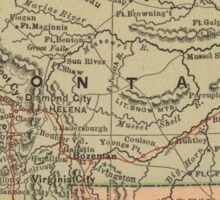 Vintage Map of Montana (1885) Sticker