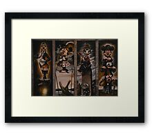 Haunted Mansion Ghosts Doom Buggy Stretching Portraits Framed Print