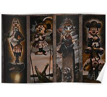 Haunted Mansion Ghosts Doom Buggy Stretching Portraits Poster