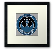 Star Wars Episode VII - Blue Squadron (Resistance) - Insignia Series Framed Print