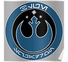 Star Wars Episode VII - Blue Squadron (Resistance) - Insignia Series Poster