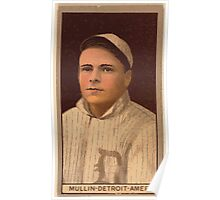 Benjamin K Edwards Collection George Mullin Detroit Tigers baseball card portrait 003 Poster