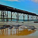 Derelict Pier. by Julie  White