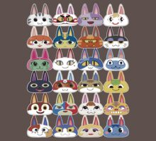 Animal Crossing Cat Villager Heads by thesmai