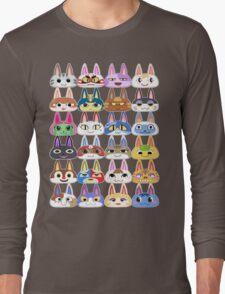 Animal Crossing Cat Villager Heads Long Sleeve T-Shirt