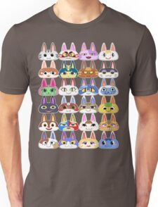 Animal Crossing Cat Villager Heads Unisex T-Shirt