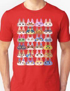 Animal Crossing Cat Villager Heads T-Shirt
