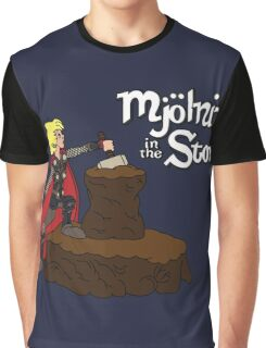 Mjolnir in the Stone Graphic T-Shirt