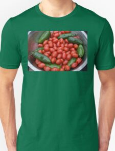Colorful Tomato Pepper Bowl Unisex T-Shirt
