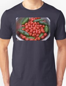 Colorful Tomato Pepper Bowl Unisex T-Shirt