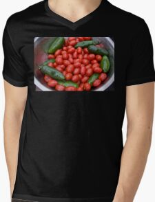 Colorful Tomato Pepper Bowl Mens V-Neck T-Shirt