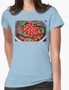 Colorful Tomato Pepper Bowl Womens Fitted T-Shirt