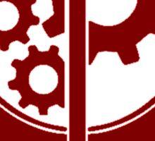 Brotherhood Of Steel Logo Red Sticker