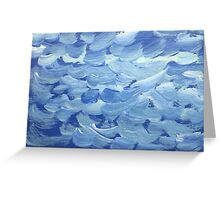 Impression White Capped Waves Greeting Card
