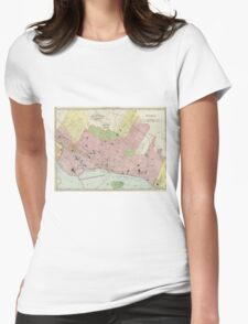Vintage Map of Montreal (1903) Womens Fitted T-Shirt
