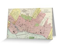Vintage Map of Montreal (1903) Greeting Card