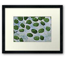 Impression Lilly Pads Framed Print