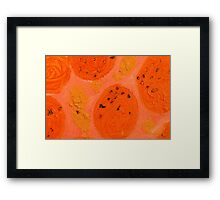 Impression Oranges Framed Print