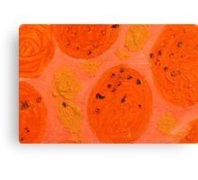 Impression Oranges Canvas Print