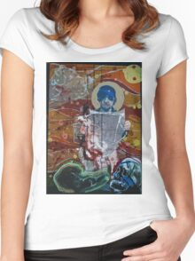 Portrait of a Contemporary Hero Down Under Women's Fitted Scoop T-Shirt