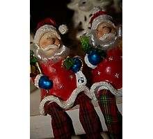 Twin Santas Photographic Print