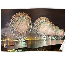 Fourth of July Fireworks Display  Poster