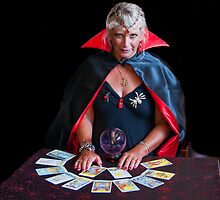 Tarot Card Lady by Tom Newman