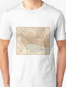 Vintage Map of Montreal (1906) Unisex T-Shirt
