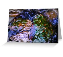 Water Flowing Over Rocks 1 Greeting Card