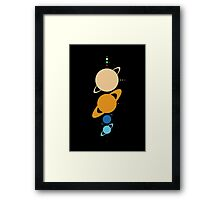 Planets And Moons To Scale Framed Print