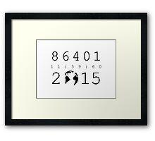86401 Leap Second 2015 Framed Print