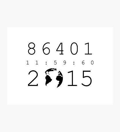 86401 Leap Second 2015 Photographic Print