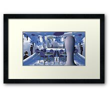 Dining with Magritte after death  Framed Print
