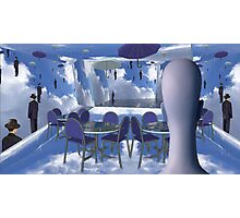 Dining with Magritte after death  Photographic Print