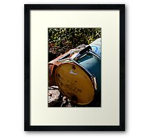 Old, Empty Barrels Framed Print